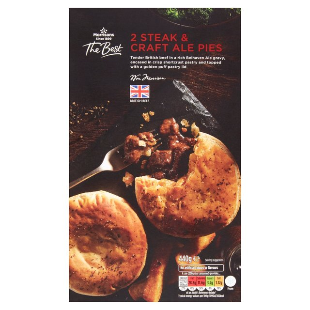 Morrisons: Morrisons The Best Steak & Ale Pies 440g ...