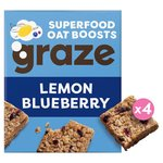 Graze Superfood Bites 4 Lemon & Blueberry Oat Squares