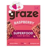 Graze Superfood Bites 4 Raspberry Oat Squares With Chia 120G