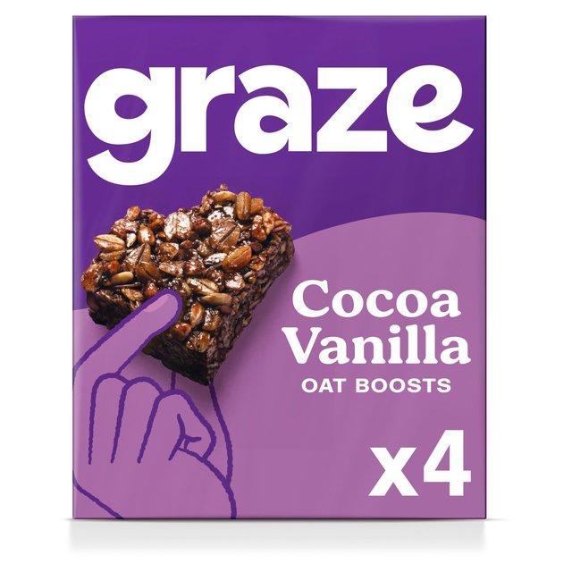 Graze Protein Bites X4 Cocoa Vanilla Oat Squares