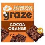Graze Superfood Bites 4 Cocoa & Orange Oat Squares