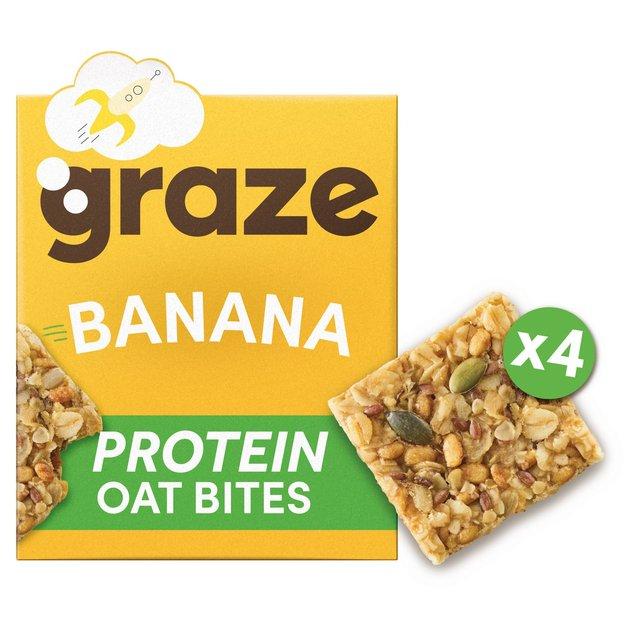 Graze Protein Bites X4 Banana Oat Squares