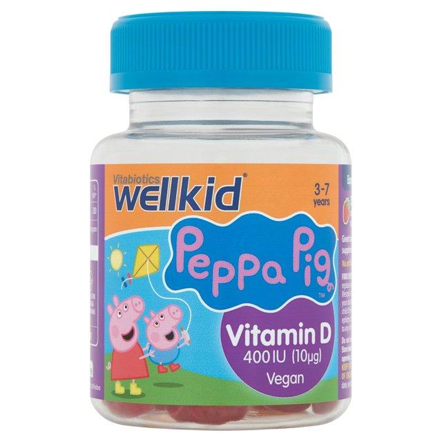 Vitabiotics Wellkid Peppa Pig Vitamin D 400Iu Soft Jellies