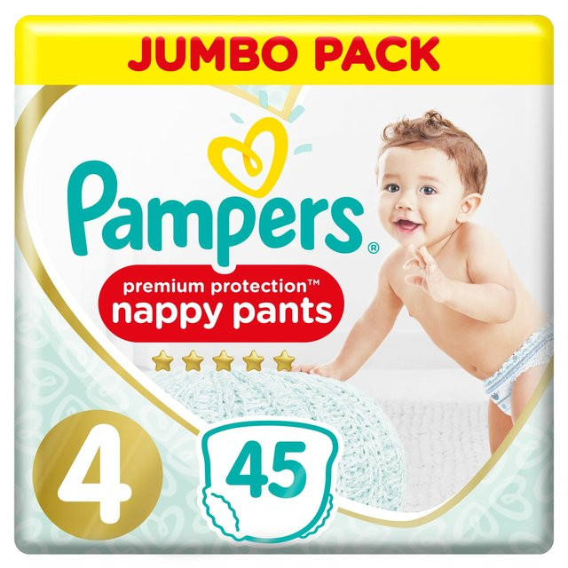 Pampers Premium Protection Active Fit Size 4 Nappy Pants,9-15kg, Easy On