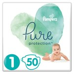 Pampers Pure Protection Size 1 Nappies, 2-5kg