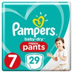Pampers Baby-Dry Nappy Pants Size 7 Nappy Pants