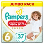 Pampers Premium Protection 6 Nappy Pants Jumbo+ Pack