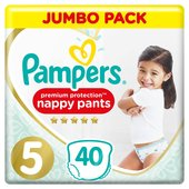 Pampers Premium Protection 5 Nappy Pants Jumbo+ Pack