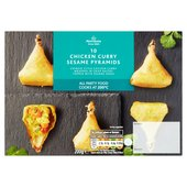 Morrisons 10 Chicken Curry Sesame Pyramids