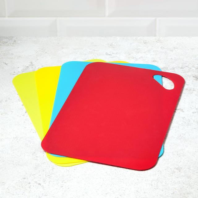 Morrisons Coloured Chopping Boards 4Pk