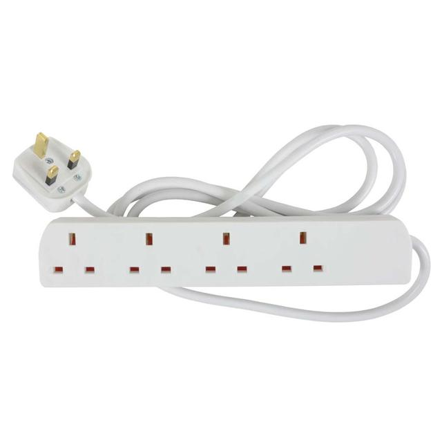 Morrisons 13 Amp 4 Gang Extension Lead 2M
