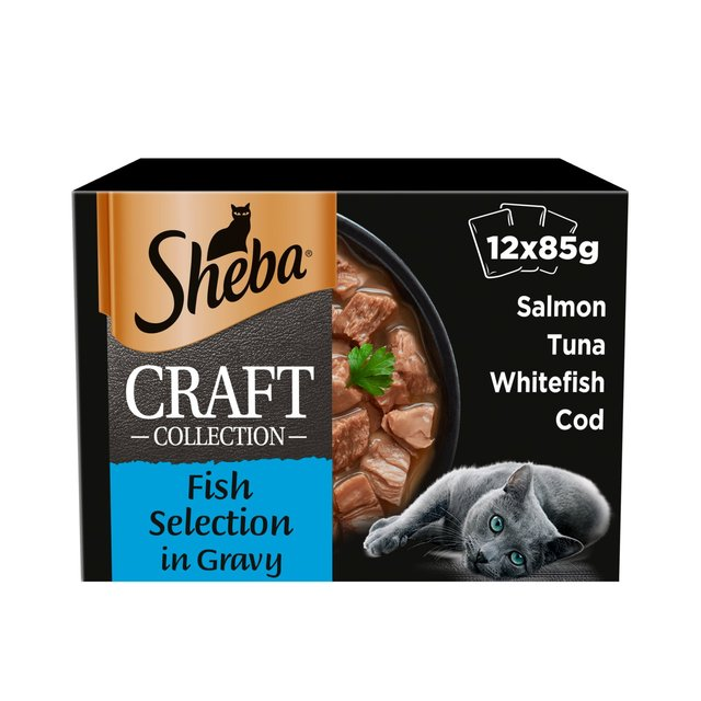 Sheba Craft Collection Shredded Pieces Fish Selection In Gravy 12 X 85G