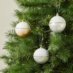 Morrisons Christmas 4 Ombre Baubles Gold & Silver