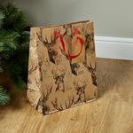 Morrisons Christmas Large Gift Bag Stag On Kraft