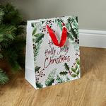 Morrisons Christmas Large Gift Bag Foliage & Text