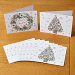 Morrisons Red Berry Wreath & Tree 10 Christmas Cards