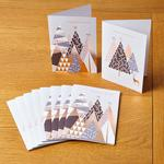 Morrisons Geometric Trees 10 Christmas Cards