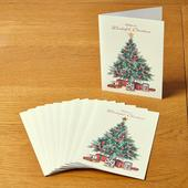 Morrisons Traditional Christmas Tree 10 Christmas Cards