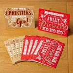 Morrisons Glitter Gin & Prosecco Text 10 Christmas Cards