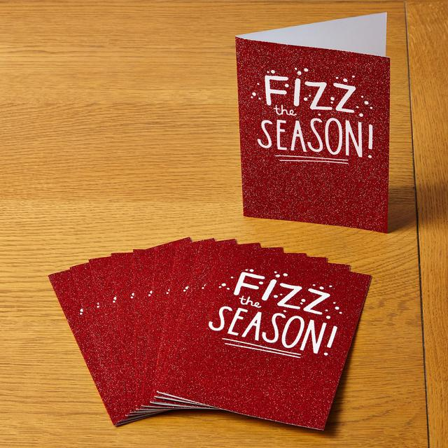 Morrisons Fizz The Season 10 Christmas Cards
