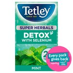 Tetley Super Herbals Detox With Selenium Mint Infusion 20 Tea Bags