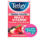 Tetley Super Fruits Multivitamin Summer Berry 20 Tea Bags