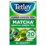 Tetley Super Green Tea Matcha Blueberry 20 Tea Bags