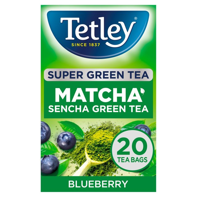 Morrisons: Tetley Super Green Tea Matcha Blueberry 20 Tea Bags 40g