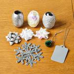 Morrisons Christmas Gift Decoration Set Silver