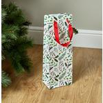 Morrisons Christmas Bottle Gift Bag Foliage & Text