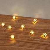 Morrisons Christmas Led Gold Ball Wire Light Chain