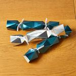 Morrisons Christmas 6 Mini Crackers Silver & Teal