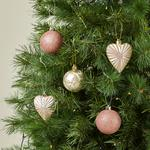Morrisons Christmas 16 Mixed Shaped Baubles Gold & Pink