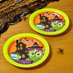 Morrisons Halloween Character Plates 8Pk