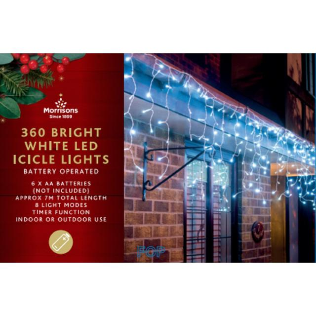 Morrisons White Icicle Light Chain