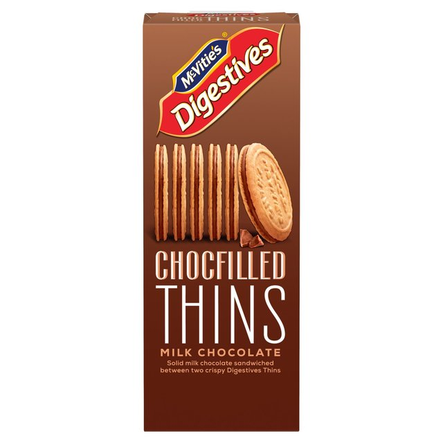 McVitie's Digestives Chocfilled Thins Milk Chocolate
