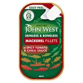 John West Mackerel Fillets In Spicy Tomato & Chilli Sauce