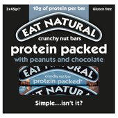 Eat Natural Crunchy Nut Bars Protein Packed With Peanuts & Chocolate