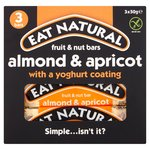 Eat Natural Fruit & Nut Bars Almond & Apricot With A Yoghurt Coating