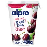 Alpro More Fruit No Added Sugars Cherry Yogurt