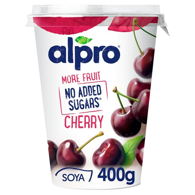Alpro More Fruit No Added Sugars Cherry Yogurt 400g