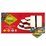 Morrisons Free From Iced Fruit Cake Slice
