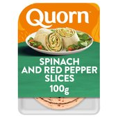 Quorn Spinach And Red Pepper Slices