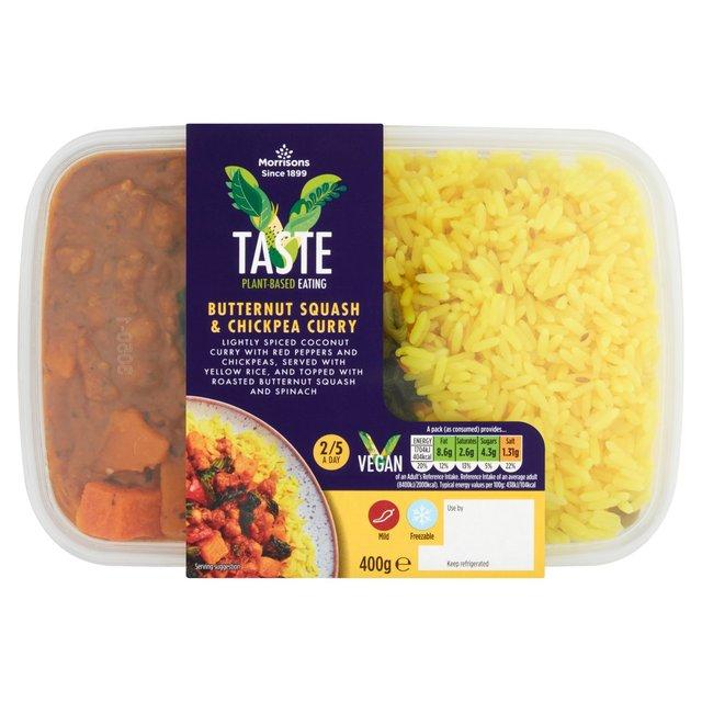 Morrisons V Taste Butternut Squash & Chickpea Curry