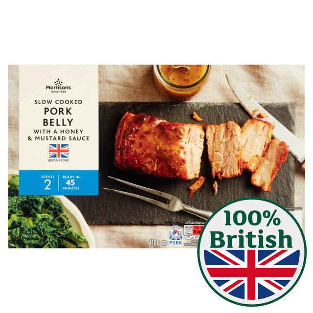 Morrisons Slow Cooked Pork Belly With Honey & Mustard