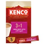 Kenco 3in1 Instant Coffee Sachets with Milk & Sugars x5 Sachets