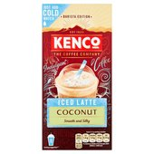 Kenco Iced Latte Coconut Instant Coffee x8 Sachets