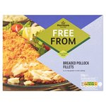 Morrisons Free From Crispy Breaded Pollock Fillets