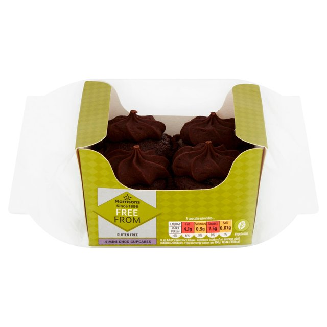 Morrisons Free From 4 Mini Chocolate Cupcakes