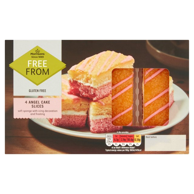Morrisons Free From 4 Angel Cake Slices